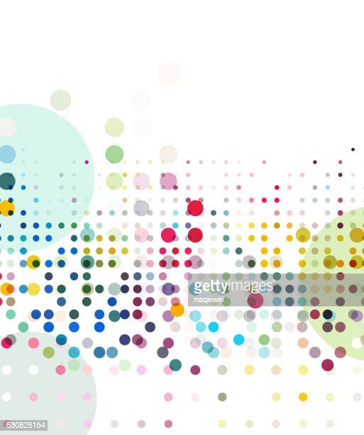 abstract colorful dots element pattern
