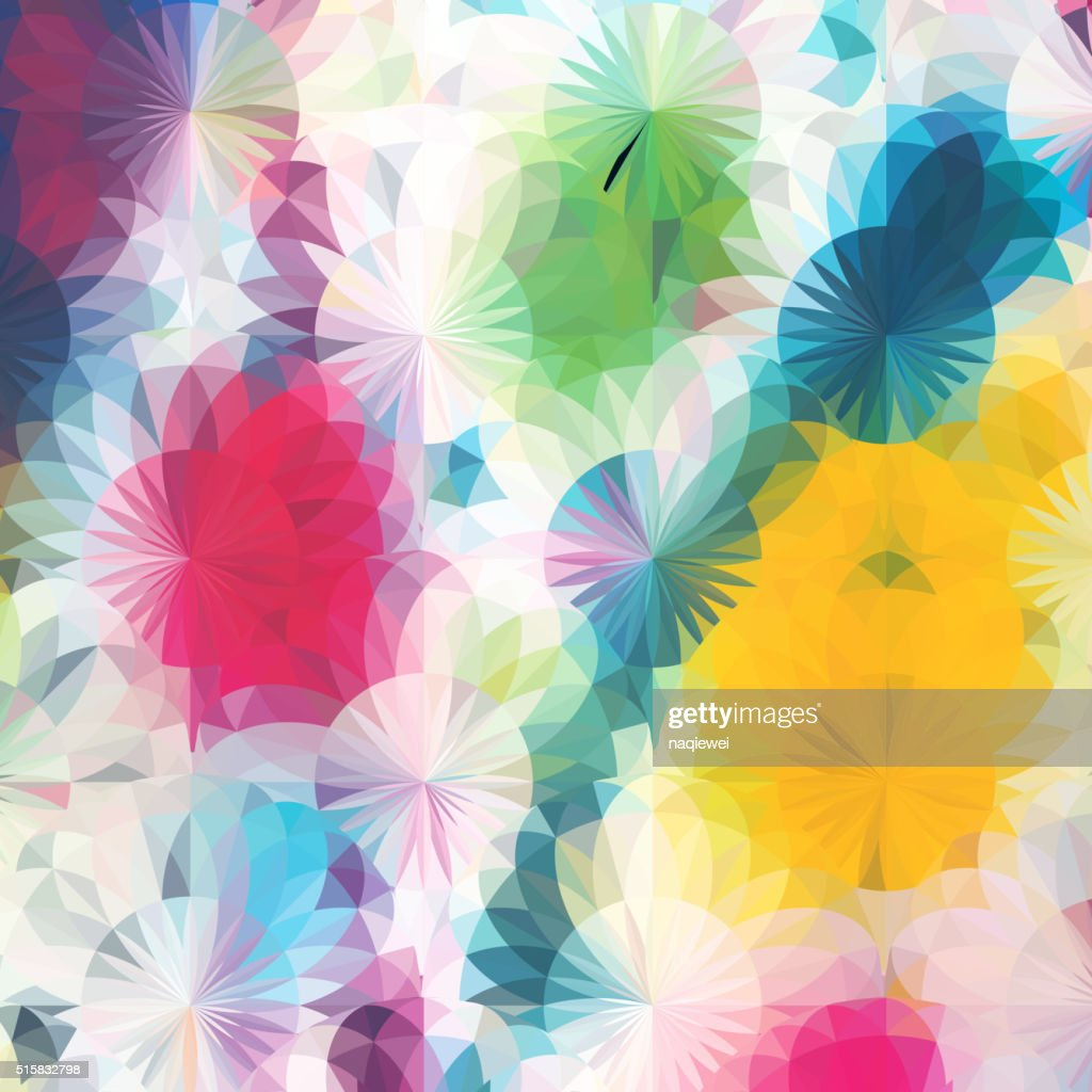 Abstract Colorful Floral Pattern Background High Res Vector