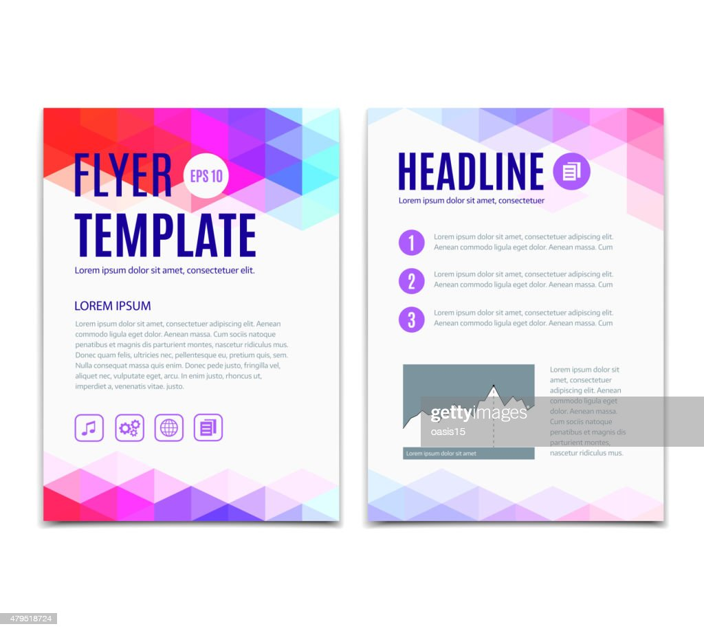 Abstract colorful geometric background. Vector template design of flyer, brochure