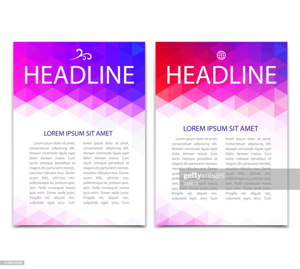 Abstract colorful geometric background. Vector template design of flyer, poster