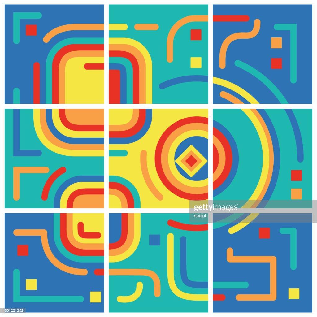 Bunten Geometrischen Isometrische Hintergrund Abstrahieren Eignet ...