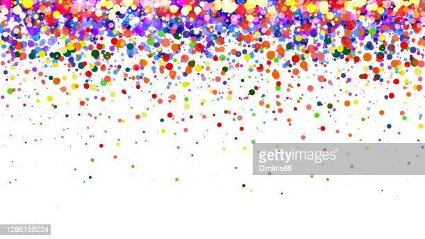 抽象的なカラフルなグラデーションの背景。白い背景に色付きのドット - 誕生日カード点のイラスト素材/クリップアート素材/マンガ素材/アイコン素材