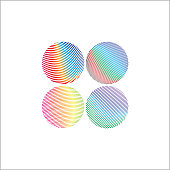 Abstract colorful gradient circle