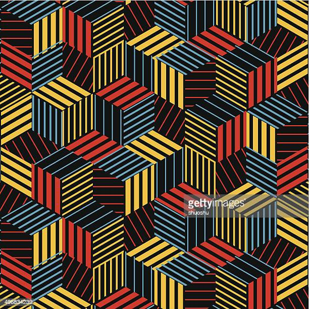 abstract colorful hexagon stripe pattern background - photocopier stock illustrations, clip art, cartoons, & icons