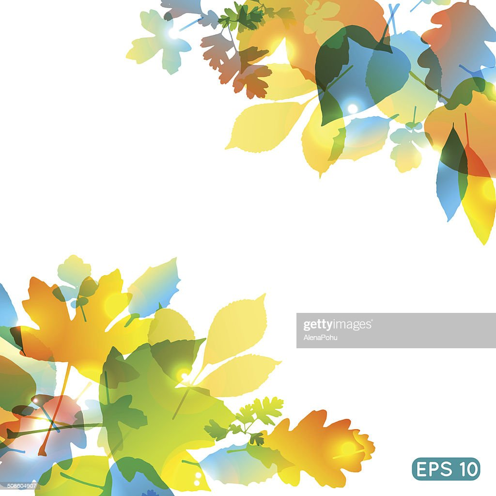 Fondo de vector abstractos coloridos leafs : Arte vectorial