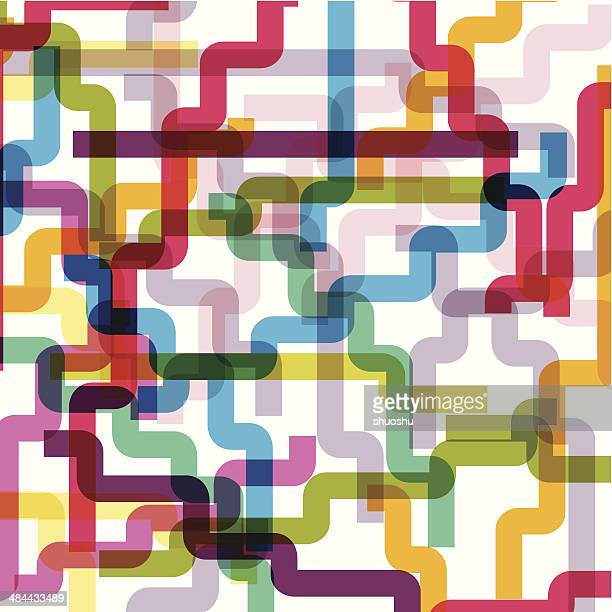 abstract colorful line shape background