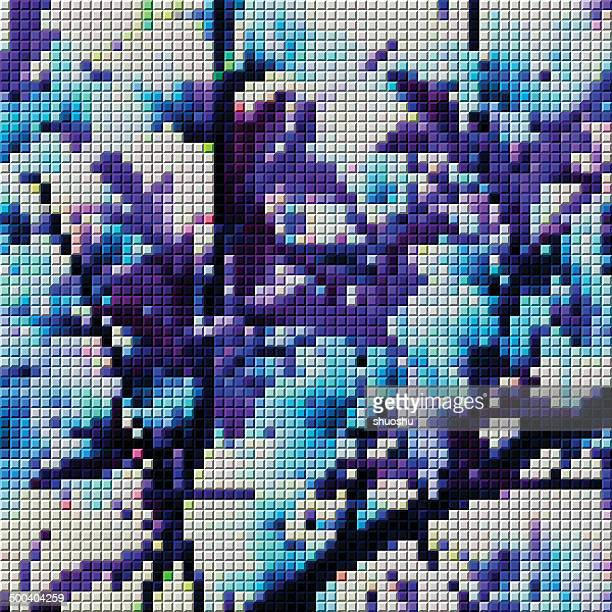 ilustraciones, imágenes clip art, dibujos animados e iconos de stock de abstracto colorido mosaico patrón de fondo - patchwork