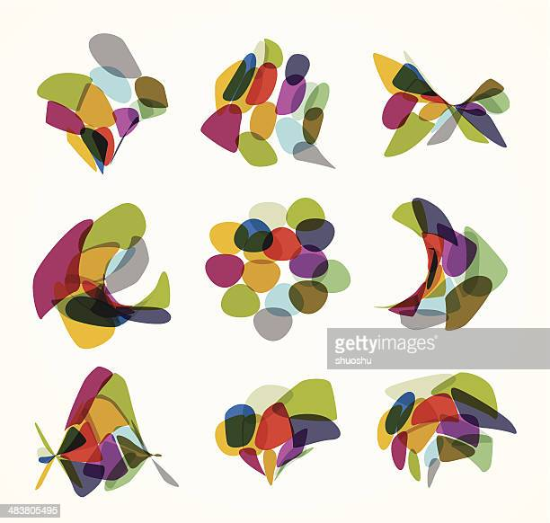 abstract colorful pattern background - organic stock illustrations, clip art, cartoons, & icons