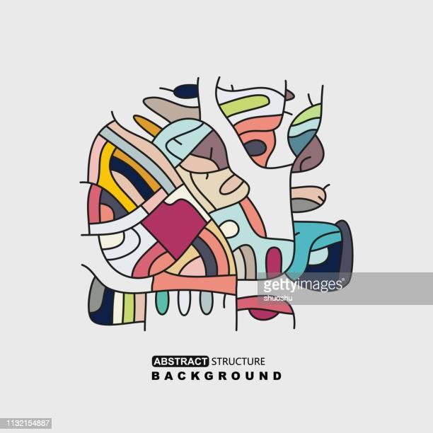 デザインのための抽象カラフルなパターン - 電子点のイラスト素材/クリップアート素材/マンガ素材/アイコン素材