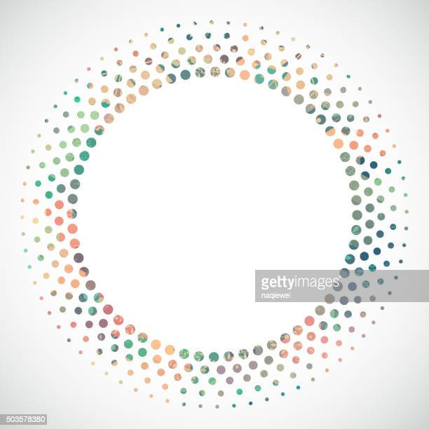 abstract colorful polka dot circle pattern background