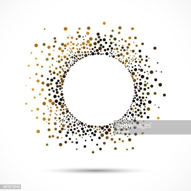 abstract colorful polka dot pattern background