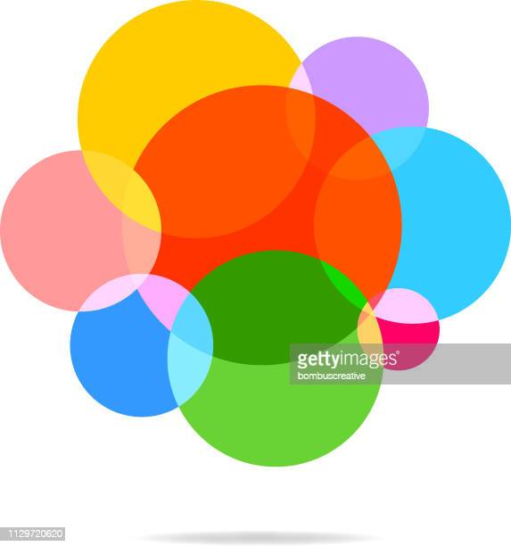abstract colorful polka dot pattern - concentration stock illustrations, clip art, cartoons, & icons