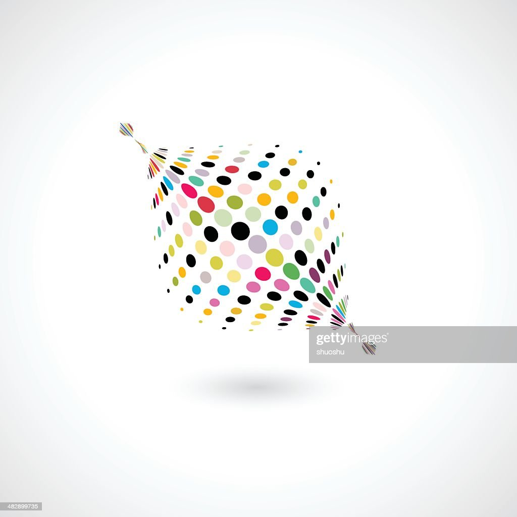 abstract colorful polka dots shape