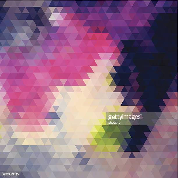 abstract colorful rhombus pattern background - rhombus stock illustrations