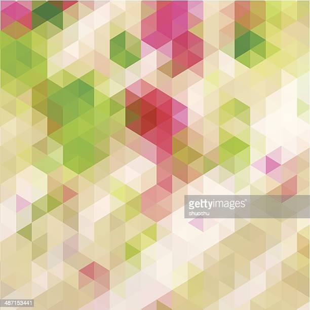abstract colorful rhombus pattern background - blanket texture stock illustrations, clip art, cartoons, & icons