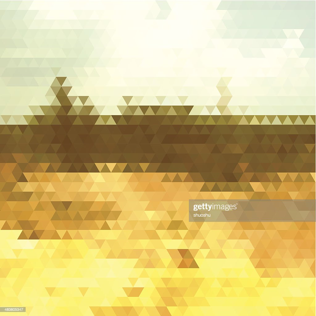 abstract colorful rhombus pattern landscape background