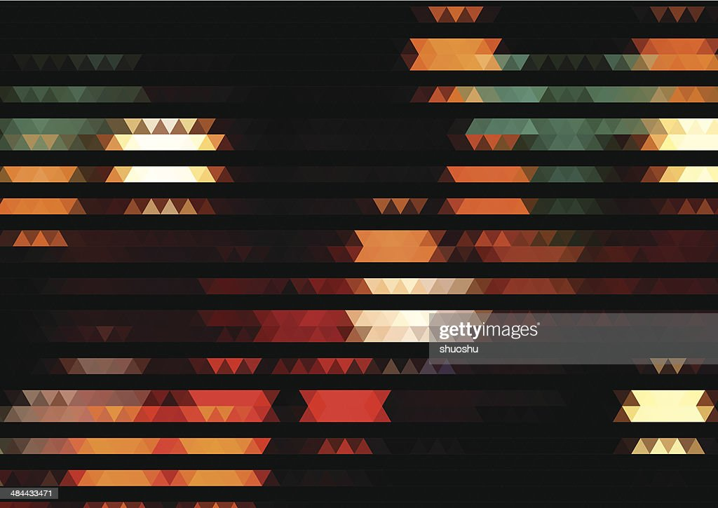 abstract colorful rhombus pattern with black background