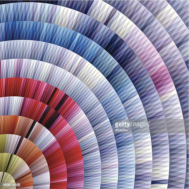 abstract colorful round style stripe pattern background - textile industry stock illustrations