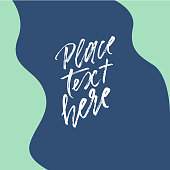 Abstract colorful shapes and copy space in center on deep blue background for banner, card, brochure, invitation design.