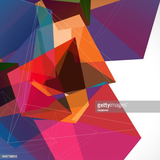 abstract colorful solid geometry pattern background