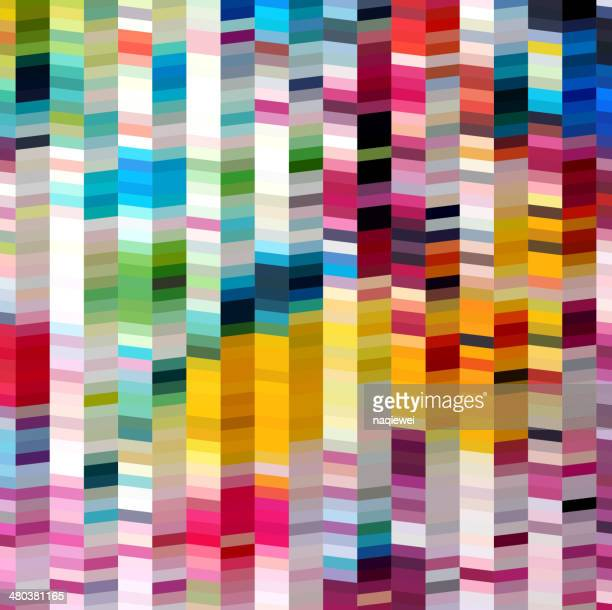 abstract colorful stripe shape background - textile industry stock illustrations