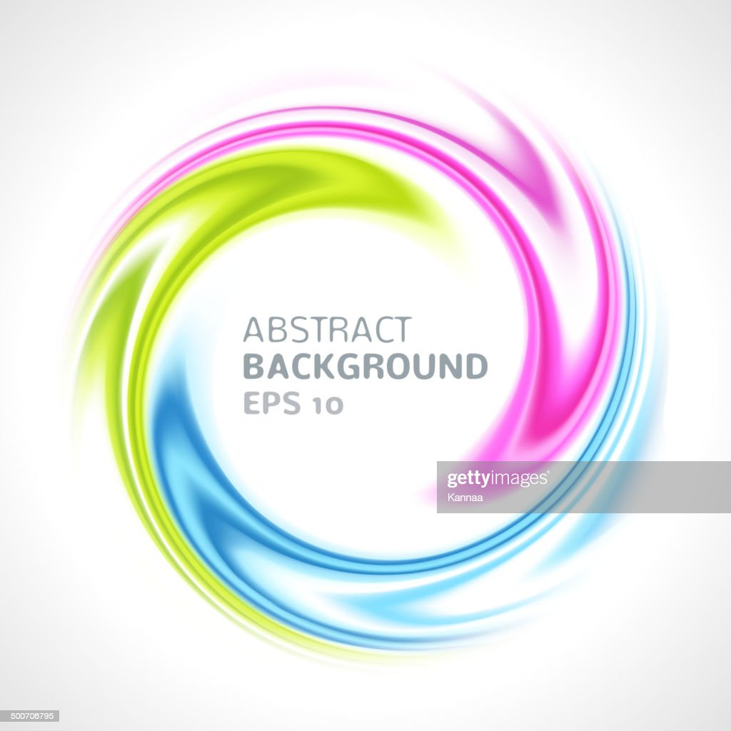 Abstract colorful swirl circle bright background
