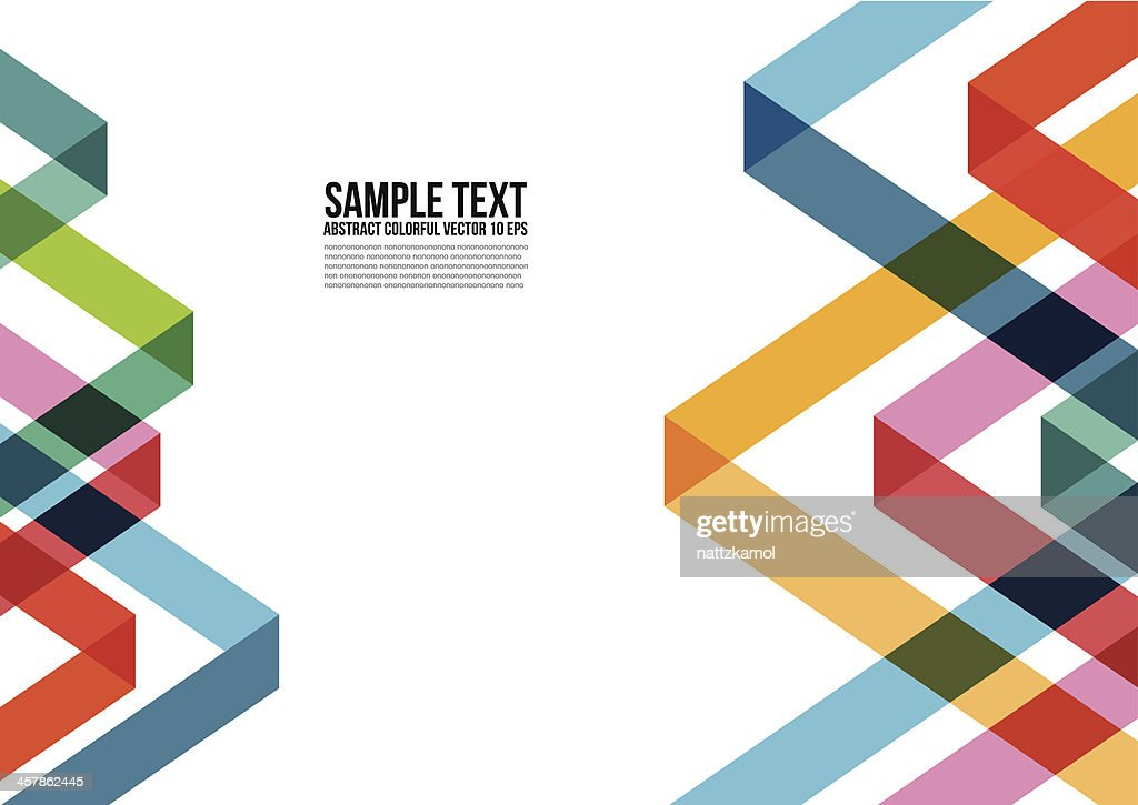 Abstract Colorful Triangle Pattern.  Background , Cover , Layout