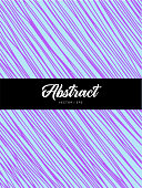 Abstract colorful violet and blue hand drawn lines background. Simple hatch doodling vector backdrop.