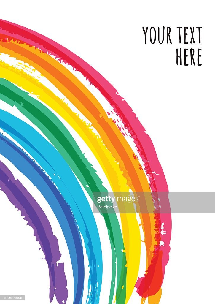 Abstract colorful watercolor rainbow background. Vector illustration