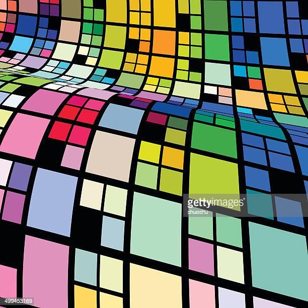 Patrón abstracto colorido fondo de onda