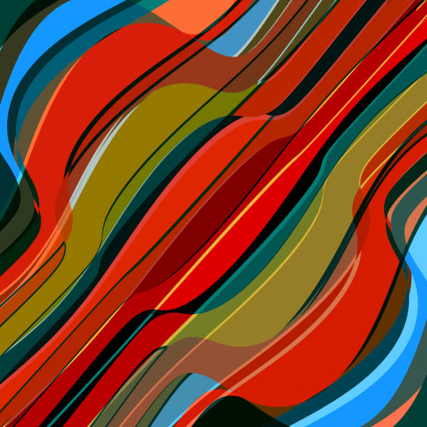 Abstract Colorful Wave Stripe Pattern Background Wall Art