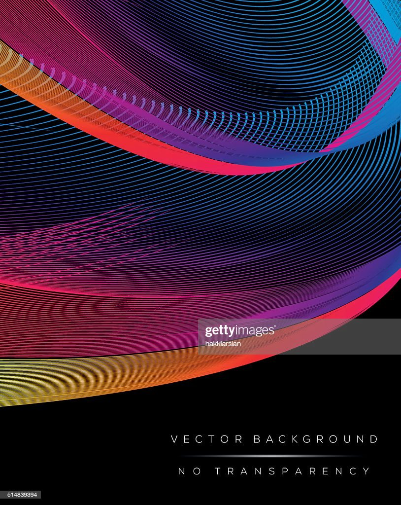 Abstract colorful wavy lines background illustration