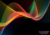 Abstract colorful wavy lines background