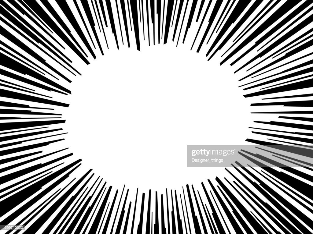 Abstract comic book flash explosion radial lines background. Vector illustration