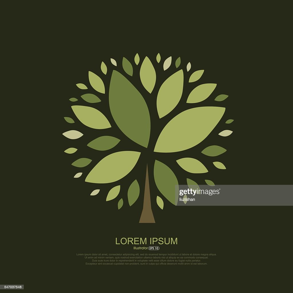 Abstract composition of tree leaves