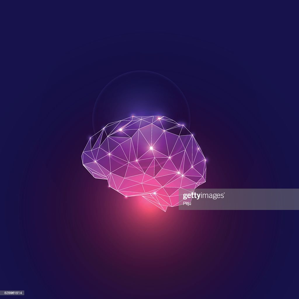 Abstract Concept of Active Human Brain