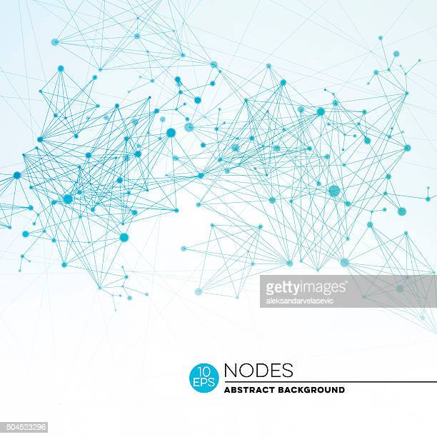 Abstract Connection Nodes Background