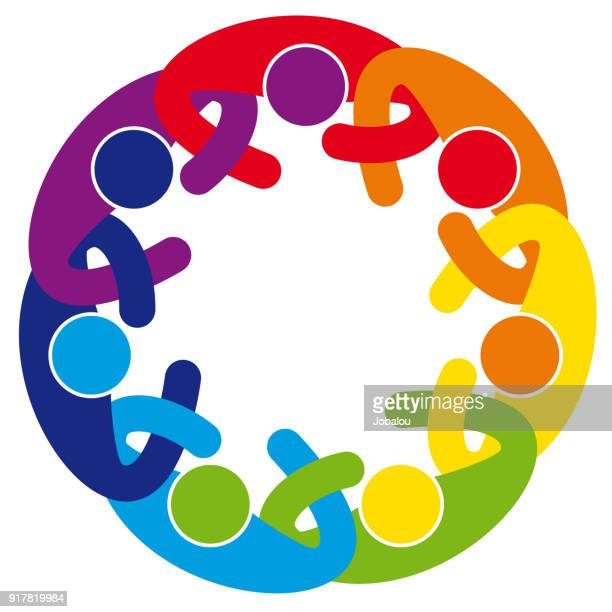 Abstract Cooperation People Mandala