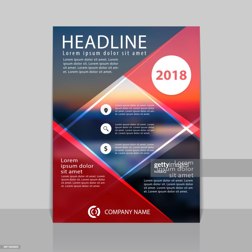 Abstract cover design for annual report. Can be used for flyer, cover, booklet or magazine. : stock illustration