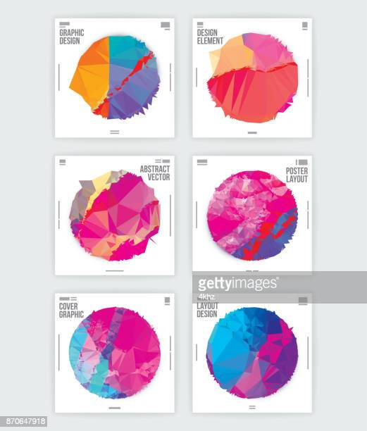 abstract cover design graphic layout template - printout stock illustrations