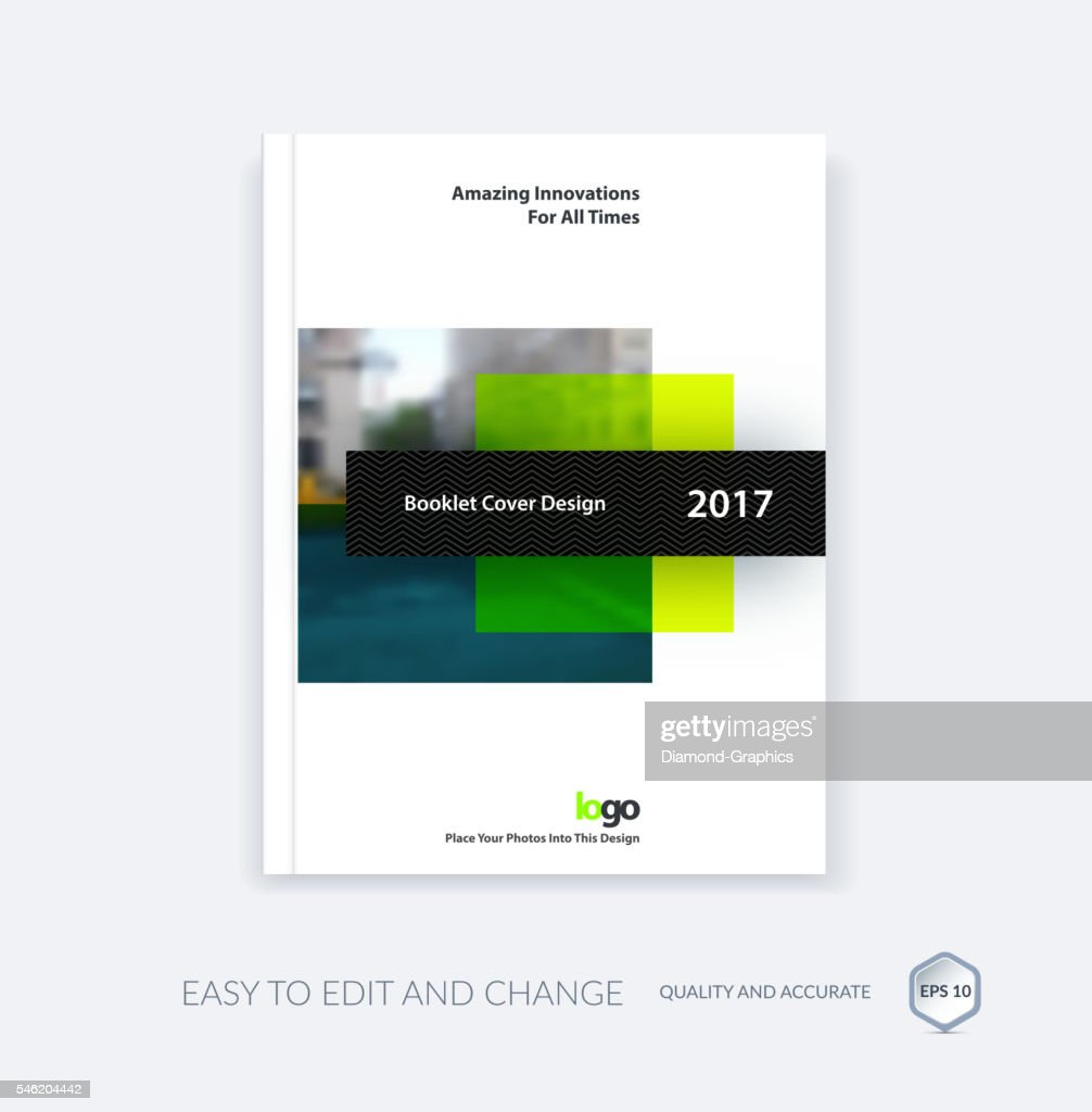 Abstract cover design template for annual report. Creative broch