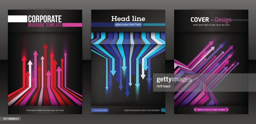 Abstract cover design with arrows elements.