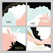 Abstract Creative Cards