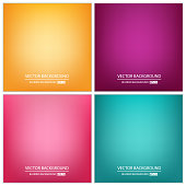 Abstract Creative concept vector multicolored blurred background set. For Web and Mobile Applications, art illustration template design, business infographic and social media, modern decoration
