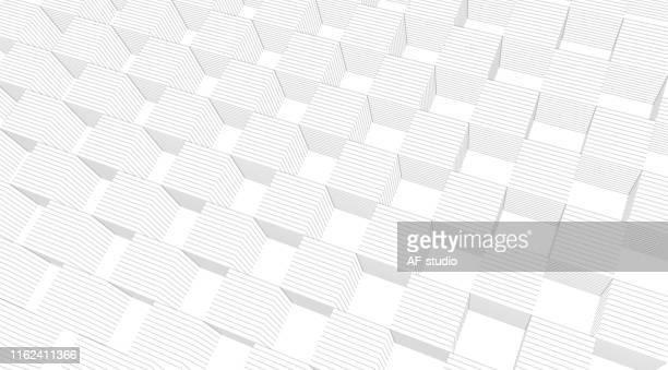 stockillustraties, clipart, cartoons en iconen met abstracte kubus achtergrond met kopieer ruimte - oscilloscoop