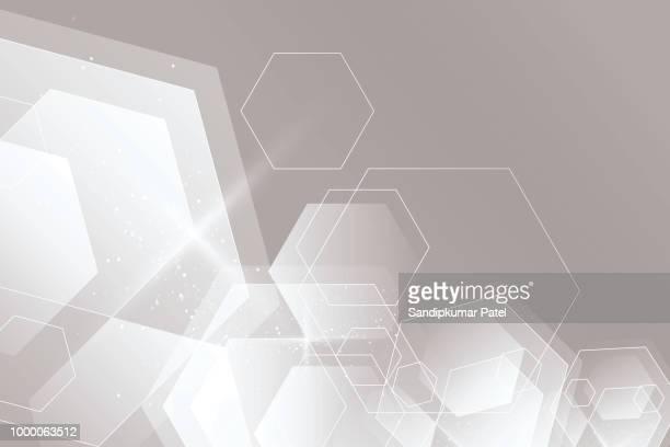 abstrakte cube sechseck form innovatives konzept hintergrund - innovation stock-grafiken, -clipart, -cartoons und -symbole