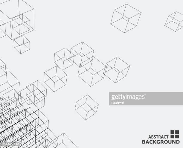 Abstrakte cube Muster Hintergrund