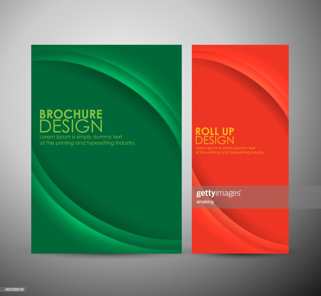 Abstract curve line vector brochure business design or roll up.
