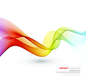 Abstract curved and colorful lines