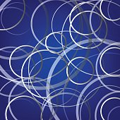 abstract cycle line on a blue background